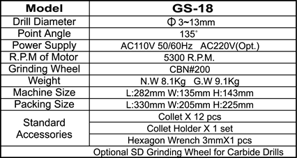 20080422313GS18-E specification