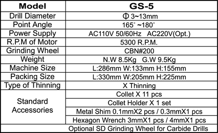 20080422538GS5-E specification
